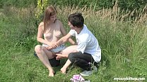 5917 Busty teen Charlotte gets nailed outdoors preview