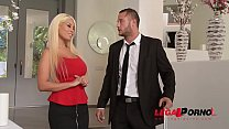 Gentleman Serves His Huge Dick To Two Insatiable Busty Blondies Bridgette B & Lolly Ink GP091 image