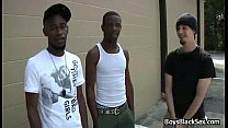 Blacks On Boys - Interracial Hardcore Gay Fuck Video 01