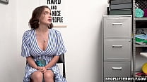 Horny cop caught this hot MILF shoplifter named Krissy Lynn and quickly interrogated and gave her a fuck punishment. preview image