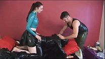 bengali hot girl ‣ slave gets fucked in a heavy latex and breathplay thumbnail