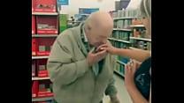 Slut fingers herself on walmart and lets strangers sniff her finger thumbnail