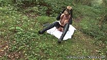 Lady Sonia Fur Coat And Thigh Boots In The Woods image