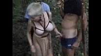 My horny bitch used by strangers outdoor. Publi...
