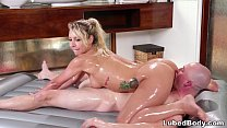 Carmen Caliente does sloppy nuru massage