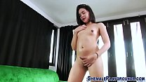Asian tgirl with braces