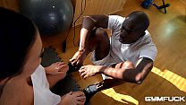 Ultra Fit nympho Jasmine Jae Fucked In Interracial Training Session thumbnail