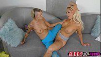 Mom Olivias pussy gets licked and fingered by teen Pressley