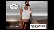 Hawaii Queens Surf Beach 3D Gay Animated Comics