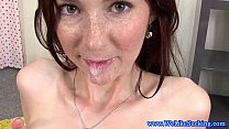 Free download video bokep Stunning redhead sucking dick to climax