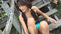 Lively Asian Girl With Perky Nipples Plays With...