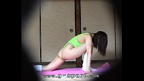 Peep into the japanese girls exercising at private house