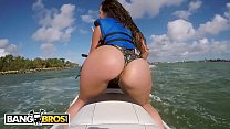BANGBROS - Big Ass Latina Babe Kelsi Monroe Rides A Water Craft And A Cock In Public - 9Club.Top