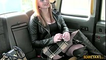 Taxi driver pounds his redhead chubby chick pas...