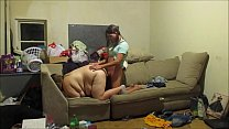 10454 Real hidden cam Landlord caught new tenants having sex on his hidden cam intense sex and creampie preview