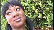 Ebony gets group cumshots 11