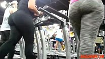 Big Booty Not Mama and Not Her Stepdaughter Working out  - abuserporn.com
