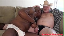 Black BBC cocksucker wanks for silver bear