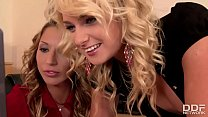 The Sugar Sex Sandwich - Two Blondes and 1 Big Black Cock thumbnail