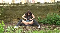 Exhibitionist babes public masturbation and cheeky gymnasts outdoor pussy flashi Preview