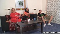 Mother in law fucks him and his wife comes in - VideoMakeLove.Com