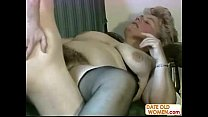 Granny very hairy pussy jizzed on