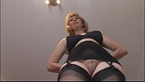 Mature blonde babe in stockings and open girdle pornhub video