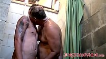 Mature Fat Gay Takes A Bath With Young Big Cock