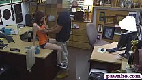 Tight babe screwed by nasty pawn man at the pawnshop