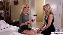 Naive stepdaughter finds her stepmoms vibrator's Thumb