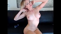 Blonde MILF Playing on Cam for Sons Friends cha...