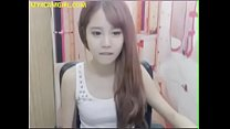 pretty Korean camgirl สาวเกาหลีน่ารักเกี่ยวหีโชว์ผ่านเว็บแคม