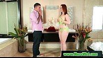 Slippery massage with nuru gel from asian sexy ...