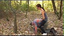 Femdom Brats dominate slaves outdoor
