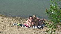 Manelik gonzalez desnuda ‣ Young couple loves fucking at the beach thumbnail