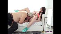 Wild Teen Luna Rival Lets Old Man Eat Her Pussy
