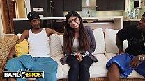 BANGBROS - Mia Khalifa Shares Her Hummus With Rico Strong & Charlie Mac thumbnail