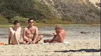 Guys caught jerking at nude beach