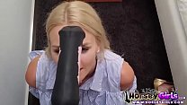 school girl loves horse dildo