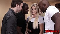 Professor India Summer fed jizz after IR gangbang thumb