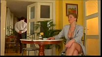 First class mature lady fucked by lucky waiter preview image
