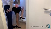 Fucked By Boss On Office Restroom  Business Bitch