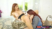 Stepdaughter licks her stepmoms pussy and sits on her face صورة