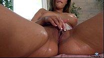 Horny babe Anastasia Black squirts