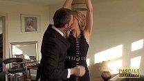 Punished Brit MILF Swallows Warm Cum Of Her Big