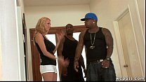Interracial MILF Tag Team Fuck preview image