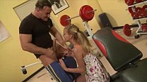 Malicious teen banged by muscly trainer in the gym Thumbnail