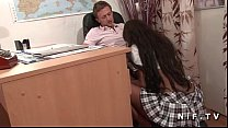 19052 Pretty french black student hard banged by her teacher in classroom preview