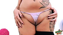 HUGE NATURAL BREASTS Teen Working Out She has FAT CAMELTOE