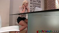 msn whores » girlfriends blonde stunner stops work for some solo girl fun thumbnail